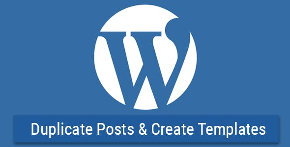 WP Template & Duplicate Posts