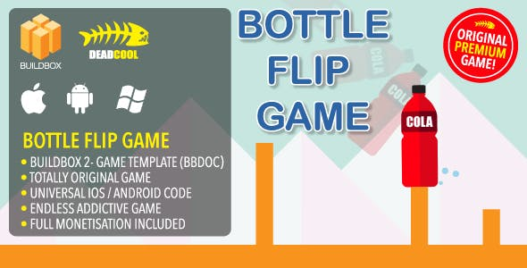 Bottle Flip - BuildBox 2 Game Template Document - iOS / Android / BBDOC
