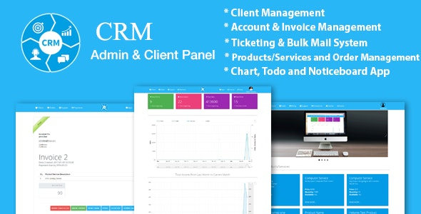 Crm Ticketing Sales Products Client And Business Management System With Material Design By W3bd