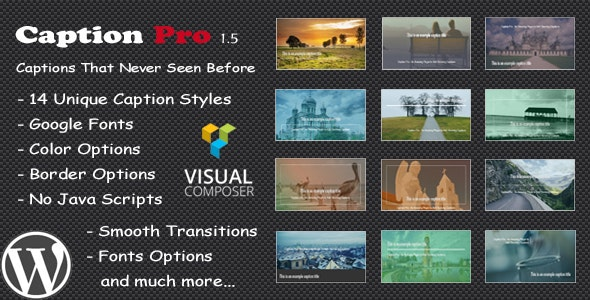 Caption Pro – Image Caption Wordpress Plugin - CodeCanyon Item for Sale