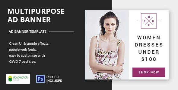 Multipurpose - HTML5 Animated Banner 17