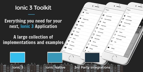 Ionic 3 Toolkit Personal Edition - The Swiss Army Knife of Ionic 3