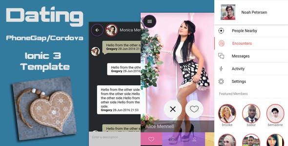 Ionic 3 Futuristic Dating PhoneGap / Cordova Hybrid App Template