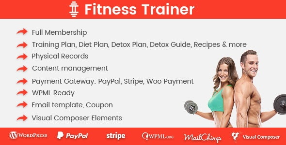 Fitness Trainer- Training Membership Plugin - CodeCanyon Item for Sale