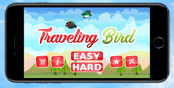 The Traveling Bird - Endless iOS Game with Admob - CodeCanyon Item for Sale