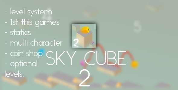 Sky Cube 2 - Android Game - Complete Game + Eclipse Project(with Admob&Heyzap) - CodeCanyon Item for Sale