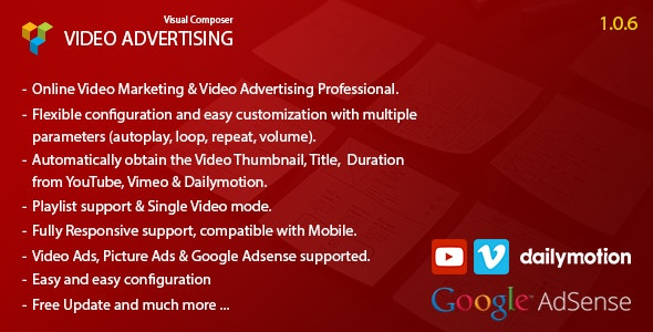 Video Advertising Addon For Visual Composer - CodeCanyon Item for Sale