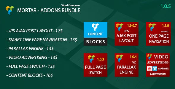 Mortar - Visual Composer Addons Bundle