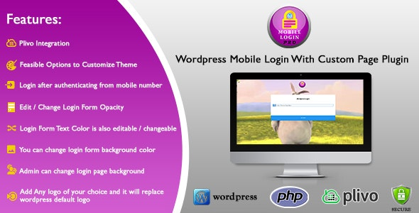 Wordpress Mobile Login With Custom Page Plugin - CodeCanyon Item for Sale