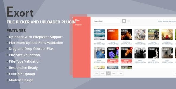 Exort - jQuery File Picker & Uploader Plugin by Native-Theme