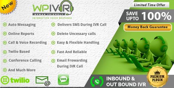 Wordpress interactive voice response (IVR) plugin integrated twilio sms, Plivo & Nexmo