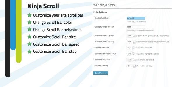 WP Ninja Scroll Bar customizer - CodeCanyon Item for Sale