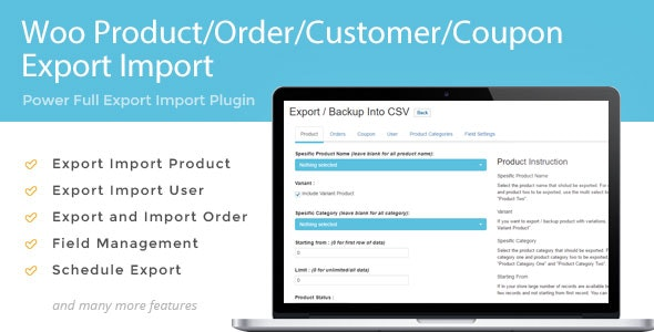 Woo Product/Order/Customer/Coupon Export Import - CodeCanyon Item for Sale