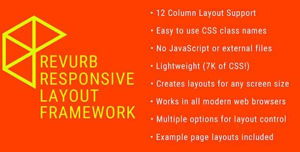 Revurb Framework - Easy Responsive 12 Column Layout Framework