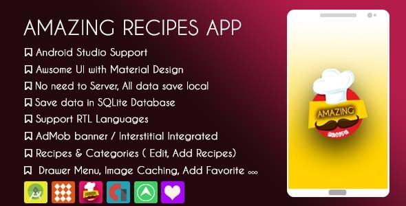 Amazing Recipes Application - AdMob & GDPR - CodeCanyon Item for Sale