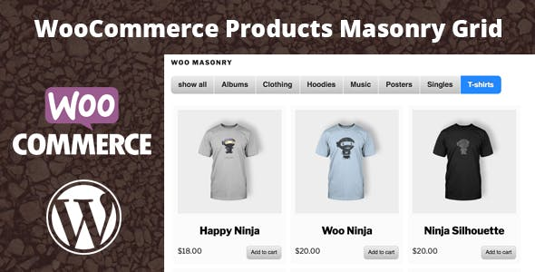 Masonry Products Grid for WooCommerce - Visual Composer Compatible