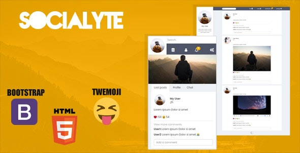 Socialyte HTML Social Network Template - CodeCanyon Item for Sale
