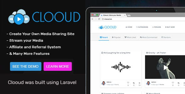 Clooud - Premium Media Sharing Script