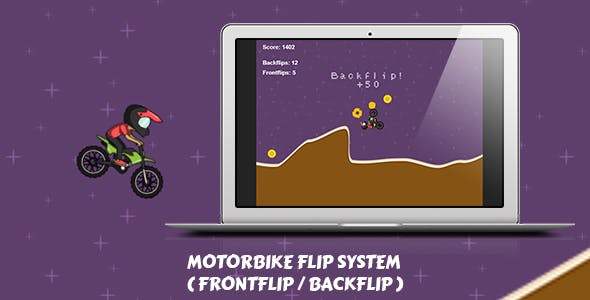 Rotate The Bike System for Construct 2 + HTML5 Game