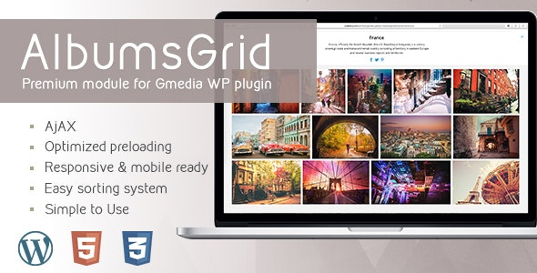AlbumsGrid 4.2 | Gallery Module for Gmedia plugin - CodeCanyon Item for Sale