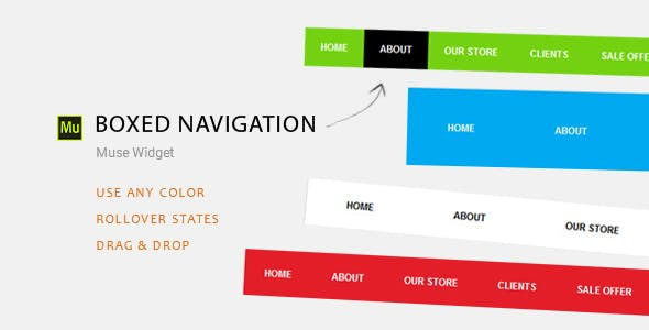 Boxed Navigation | Adobe Muse Widget