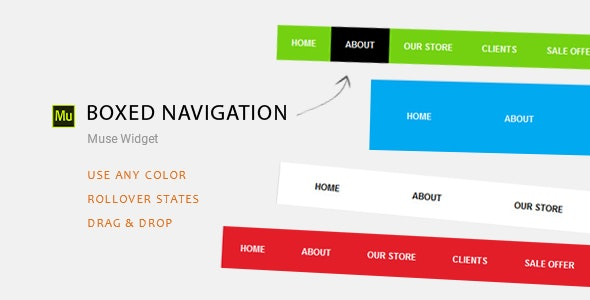 Boxed Navigation | Adobe Muse Widget - CodeCanyon Item for Sale