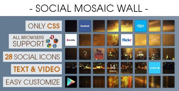 Social Mosaic Wall [ 2020 Edition ] - CodeCanyon Item for Sale