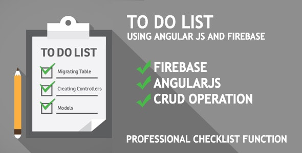 Todo List Using AngularJs and Firebase - CodeCanyon Item for Sale