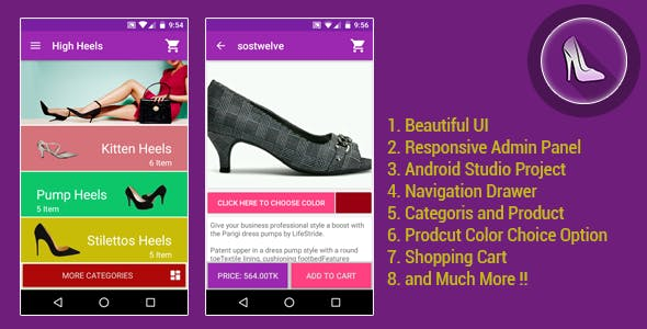 Android E-Commerce App / Online Shop with web admin panel (Material Design)
