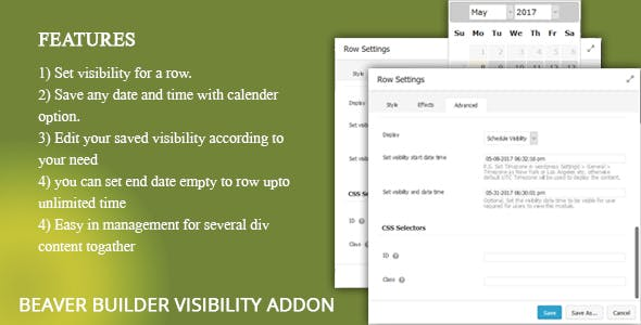 Beaver Builder Visibility Addon - CodeCanyon Item for Sale
