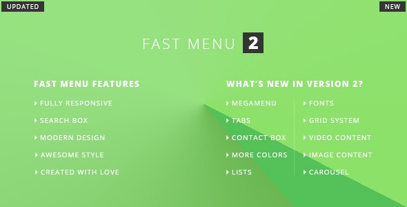 Enestife - Fast Menu Responsive v2 - CodeCanyon Item for Sale