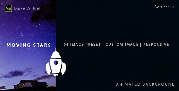 Moving Stars - Animated Background Muse Widget - CodeCanyon Item for Sale