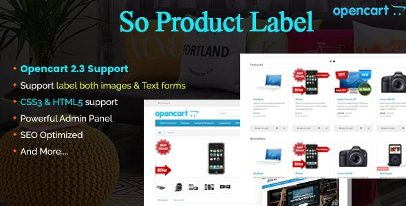 Product Label - Advanced Product Label OpenCart 3 & 23 Module