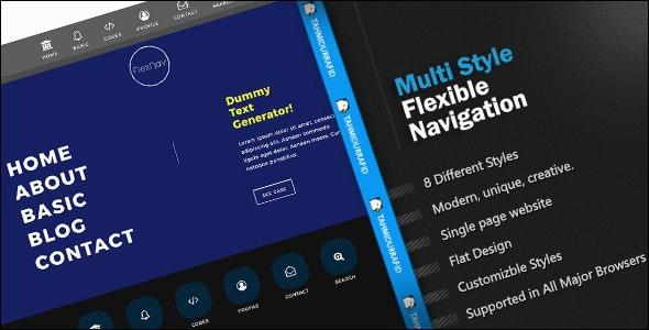 FlexNav - Multi Style Navigation Menu