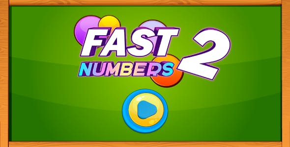 Fast numbers 2 - HTML5 game. Construct 2 (.capx) + mobile control