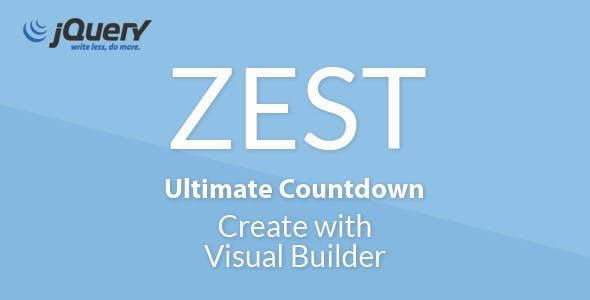 Zest Countdown, Responsive jQuery Plugin