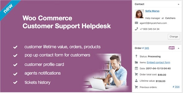 WooCommerce Helpdesk and Ticket System Bundle by Mycatchers