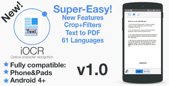 iOCR | Android Optical Character Recognition Application