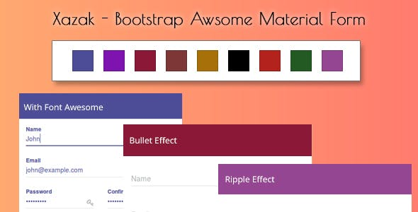 Xazak - Bootstrap Awesome Material Forms