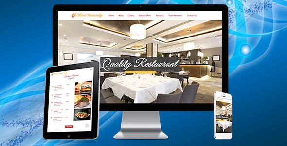 Restaurant Responsive Drag&Drop Website Builder