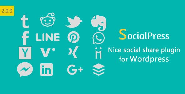 SocialPress - Nice social share plugin for Wordpress