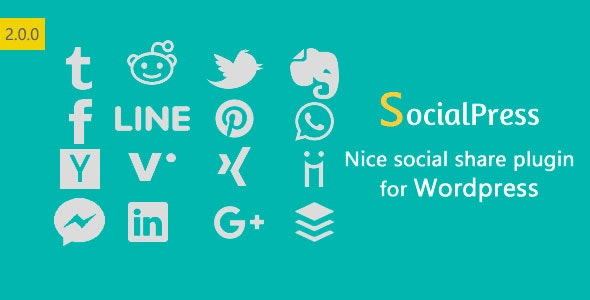 SocialPress - Nice social share plugin for Wordpress - CodeCanyon Item for Sale