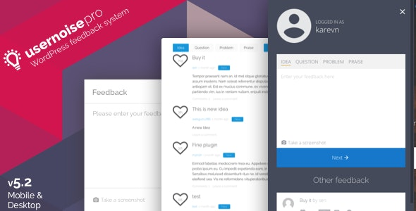 Usernoise Pro Modal Feedback & Contact form - CodeCanyon Item for Sale