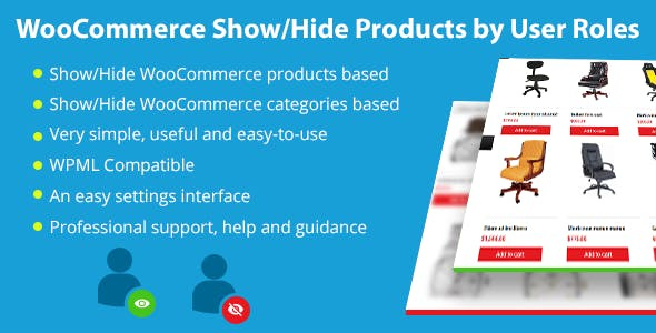 WooCommerce Show/Hide Products by User Roles