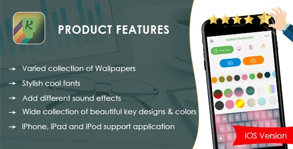My Photo Keyboard Background iOS Swift - CodeCanyon Item for Sale