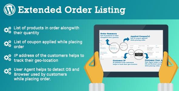 Woo Extended Order Listing - CloudBerriez