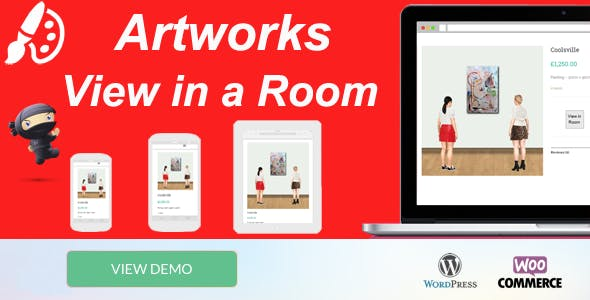 WooCommerce Artworks view in Room