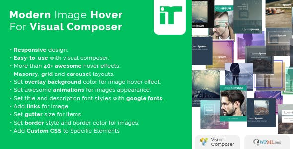 Modern Image Hover Effects for WPBakery (Visual Composer)