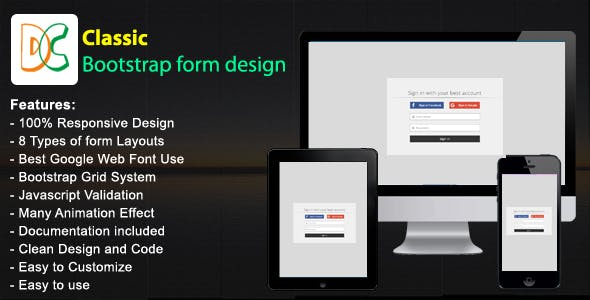 Classic - Responsive Bootstrap Form