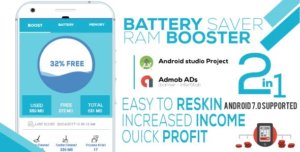 Battery Saver & RAM Booster Pro + Admob